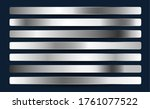 silver chrome platinum... | Shutterstock .eps vector #1761077522