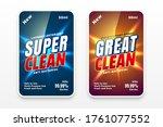 cleaner labels design for...   Shutterstock .eps vector #1761077552