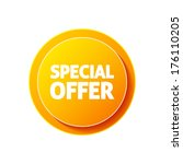 special offer icon on white... | Shutterstock .eps vector #176110205