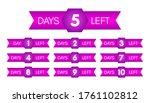 number of days left. set of ten ... | Shutterstock .eps vector #1761102812