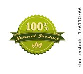 label with type natural product | Shutterstock .eps vector #176110766