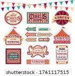cartoon color circus show... | Shutterstock .eps vector #1761117515