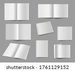 blank magazine. realistic empty ...   Shutterstock .eps vector #1761129152