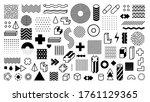 memphis geometric shapes.... | Shutterstock .eps vector #1761129365
