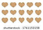 brown hearts paper cut vintage... | Shutterstock .eps vector #1761153158