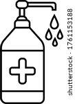 hand sensitize bottle icon ... | Shutterstock .eps vector #1761153188
