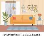 furniture  sofa  window  table... | Shutterstock .eps vector #1761158255