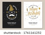 wish you a very happy birthday... | Shutterstock .eps vector #1761161252
