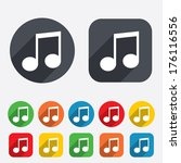 music note sign icon. musical... | Shutterstock . vector #176116556