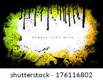 grunge frame. grunge background ... | Shutterstock . vector #176116802