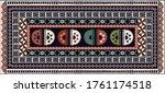 abstract geometric tribal print ... | Shutterstock .eps vector #1761174518