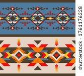 aztec  navajo geometric...   Shutterstock .eps vector #1761176228