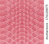 red snake skin   Shutterstock . vector #176120075
