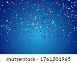 confetti background for 4th... | Shutterstock .eps vector #1761201965