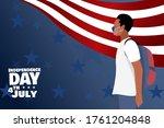 african american man wearing... | Shutterstock .eps vector #1761204848