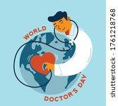world doctor's day vector... | Shutterstock .eps vector #1761218768