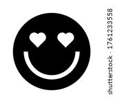 smile in love emoticon. vector... | Shutterstock .eps vector #1761233558