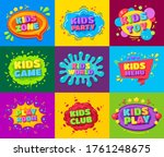 kids zone  toy  party  game ... | Shutterstock .eps vector #1761248675