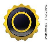 blank golden label isolated on...   Shutterstock . vector #176126042
