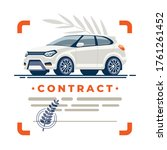 clean deal of car is protected... | Shutterstock .eps vector #1761261452
