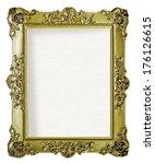 empty golden frame for picture... | Shutterstock . vector #176126615