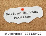 the phrase deliver on your... | Shutterstock . vector #176130422