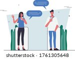 refer a friends with chat...   Shutterstock .eps vector #1761305648