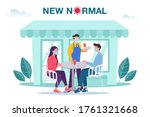 new normal concept illustration ... | Shutterstock .eps vector #1761321668
