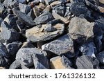 Big Stone Pile Stacked For...