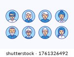 vector faces of different... | Shutterstock .eps vector #1761326492