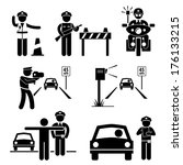 police officer traffic on duty... | Shutterstock . vector #176133215