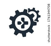 plus sign and gears. additional ... | Shutterstock .eps vector #1761344708