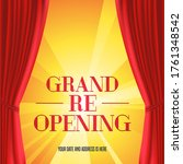 grand opening or reopening... | Shutterstock .eps vector #1761348542