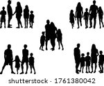 family of silhouettes.... | Shutterstock .eps vector #1761380042