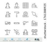vector line icon set....