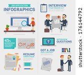 business infographics  job... | Shutterstock .eps vector #176144792