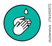 hand gel sanitizer vector label ... | Shutterstock .eps vector #1761453572