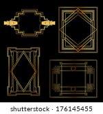 art deco vintage frames and... | Shutterstock .eps vector #176145455