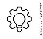 light bulb and gear outline... | Shutterstock .eps vector #1761476942