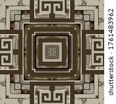 wood textured ornamental greek... | Shutterstock .eps vector #1761483962