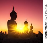 buddha in temple of thailand.  | Shutterstock . vector #176148716