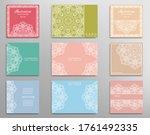 big set of invitation templates ... | Shutterstock .eps vector #1761492335