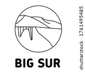 big sur icon isolated vector...   Shutterstock .eps vector #1761495485