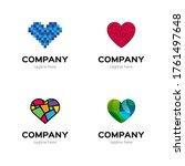 set of heart logo. collection... | Shutterstock .eps vector #1761497648