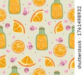 seamless pattern with fresh... | Shutterstock .eps vector #1761498932