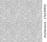 vector seamless linear pattern. ... | Shutterstock .eps vector #176150942