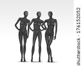 set of female mannequins... | Shutterstock . vector #176152052