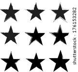 grunge stars | Shutterstock .eps vector #176153282