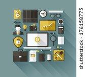 bitcoin essentials. modern flat ... | Shutterstock .eps vector #176158775