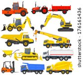 vector illustration of industrial transportation machine